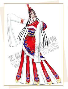 藏族服装定做,藏族舞服设计,藏族演出服厂家