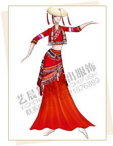 傣族舞蹈服装定制,傣族演出服装设计,傣族表演服装厂家
