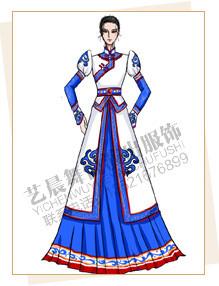 蒙古舞蹈服定做,蒙古演出服装设计,蒙古表演服装厂家
