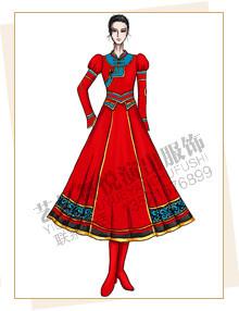 蒙古服装定做,蒙古演出服装设计,蒙古舞蹈服厂家