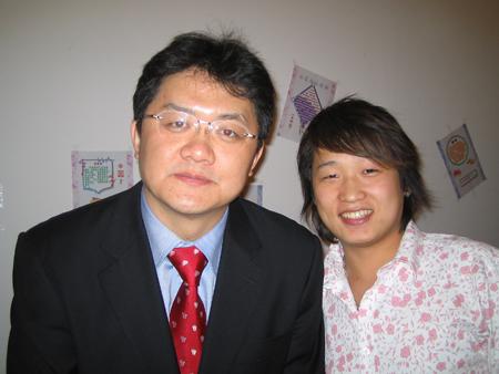 张斌和刘晓峰合影