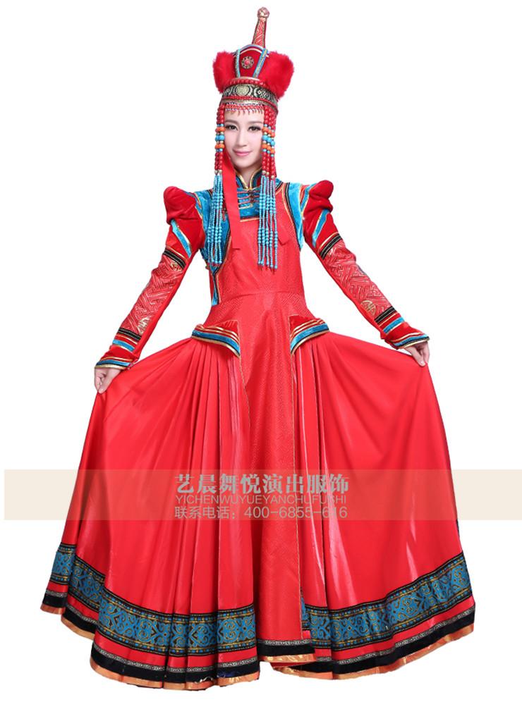 为适应蒙古族舞蹈艺术形象的要求,在蒙古族舞蹈服饰设计过程中要在传统蒙古族民族服饰基础上,对其款式、色彩、面料、饰品、材质、图案纹样等服饰元素,做全方位的艺术筛选、解析、重构、演化和兑换等,从而设计出富有创意的,既有利于舞蹈肢体活动语言,同时还具有新鲜视觉艺术效果及蒙古族民族特色的舞蹈服饰。  艺晨舞悦专注蒙古族舞蹈服装的设计与定制,诚挚期待与您携手,共创美好未来!