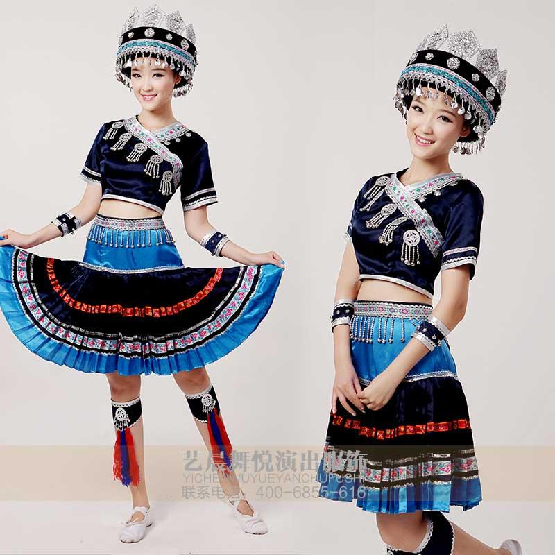 民族舞蹈服装壮族舞服