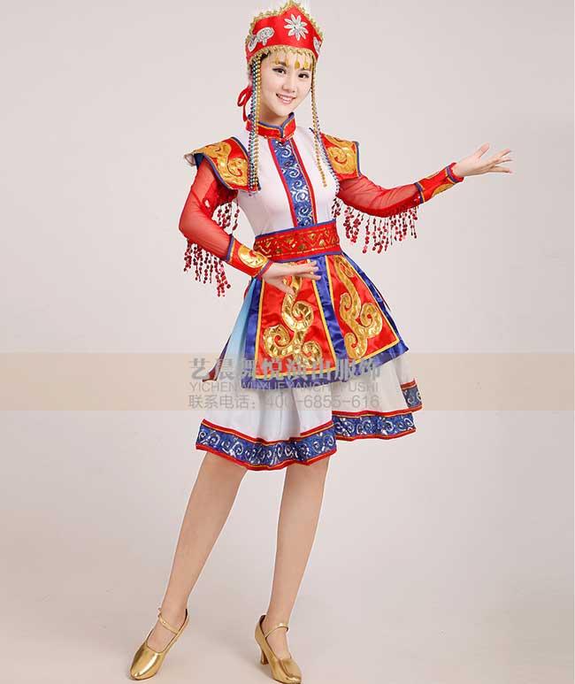 蒙古族舞蹈服饰设计的特点图片