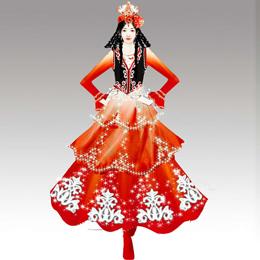 艺晨舞悦为我们定制新疆舞蹈服装助力中秋晚会