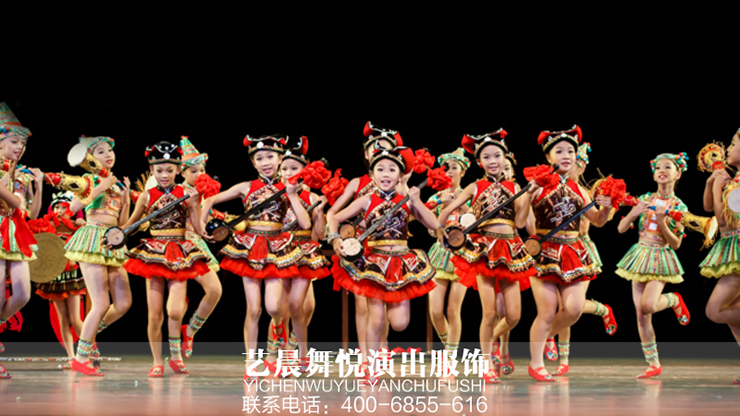 艺晨舞悦定做儿童舞蹈服装登上2017首届少儿春晚