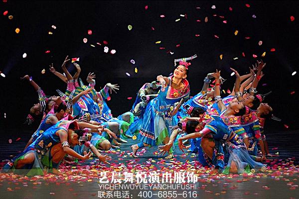 民族舞蹈服装播洒民族风情