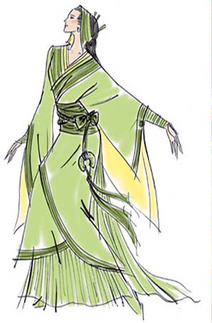 中国古装剧舞剧表演服装设计舞台服定做