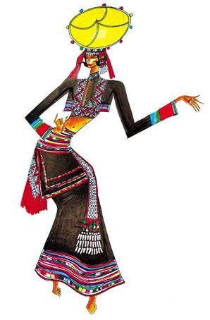 少数民族舞蹈比赛服装定制设计表演服定制演出服厂家
