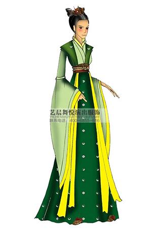 艺晨舞悦宫女影视剧服舞台服演出定做古装影视服装设计演出服饰