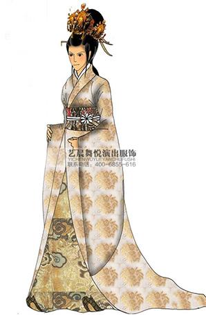古装贵妃影视表演服装定做演出表演服装厂家影视服舞台剧服