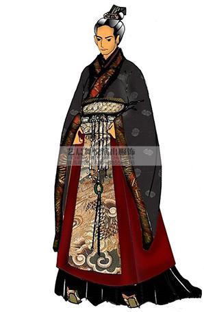 宫廷皇帝古装演出服装表演服设计影视剧演出服定做