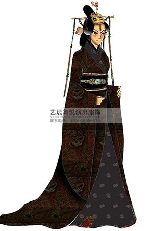 宫廷太后影视剧演出服装表演服装定做设计影视服装定制