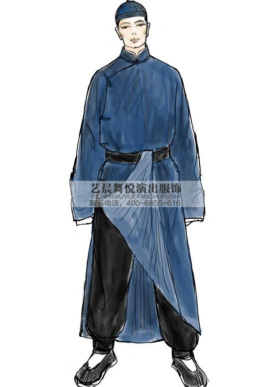 茶馆王利发民国服装话剧演出表演服厂家定做男民国服