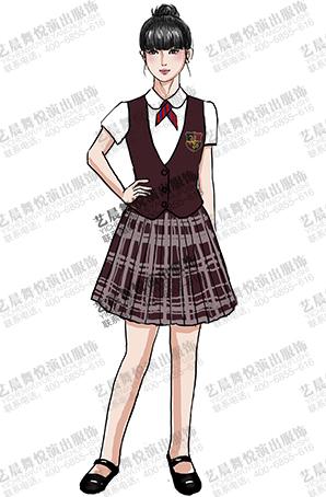 学生校服定做演出表演校园学生服装定制供应商