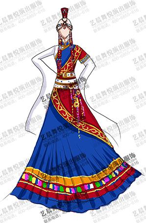 藏族舞服装演出服定制表演舞台服厂家