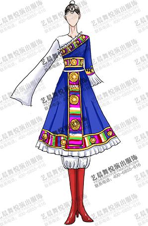 藏族舞台演出服装设计定制供应商生产制作