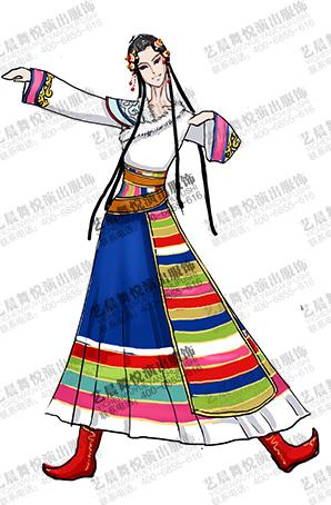 藏族演出服装设计供应商厂家直销