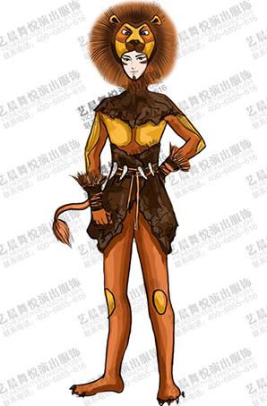舞台剧狮子王演出服装设计舞台服装定做厂家