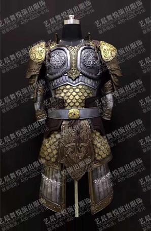 将军铠甲服装古装盔甲定做盔甲道具厂家
