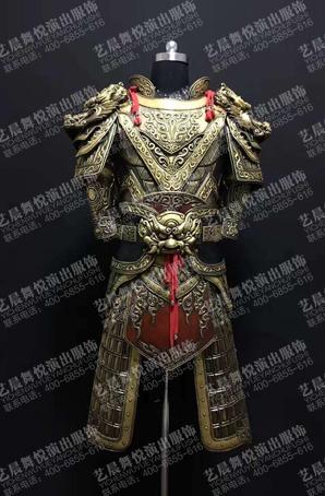 古装将军盔甲设计古代兵甲服盔甲服装定做