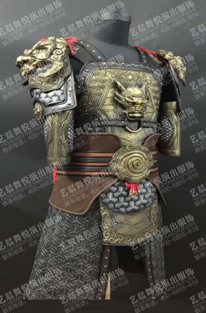 影视将军盔甲将军勇士盔甲铠甲服装定做