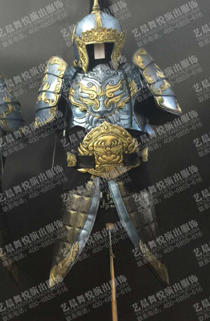 古代将军战袍将军铠甲定制影视盔甲厂家