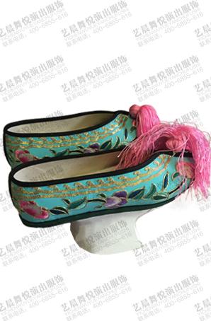 戏曲专用女鞋清朝船鞋彩鞋旗鞋定做戏剧演出女鞋设计