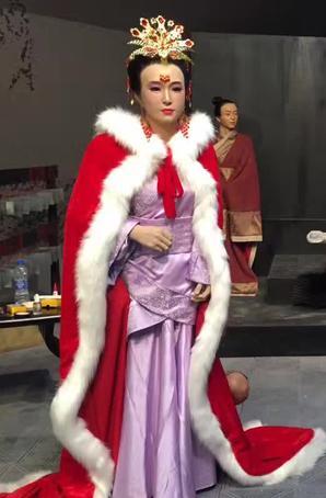 王昭君蜡像服装古装蜡像演出服装设计定制