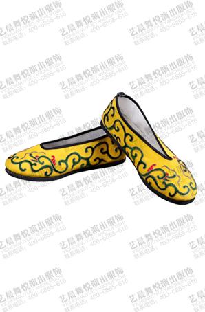 新款戏曲鞋子黄色打鞋京剧舞台鞋子薄底小生鞋靴戏曲演出用品定制