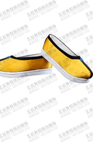 戏曲舞台演出僧鞋黄色罗汉鞋昆曲越剧舞台鞋子成人戏曲和尚表演鞋