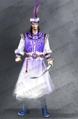 大型舞剧古代弯刀舞舞剧服装设计定制