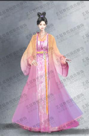 大型舞剧汉女古装舞剧服装设计定制