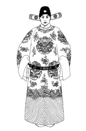 京剧演出服装《玉堂春》红团蟒袍戏曲服装定制手绘稿!