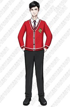 儿童合唱演出服装红色合唱演出服装定制