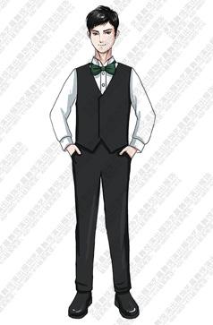 校园专业合唱礼服黑色马甲衬衫礼服定制