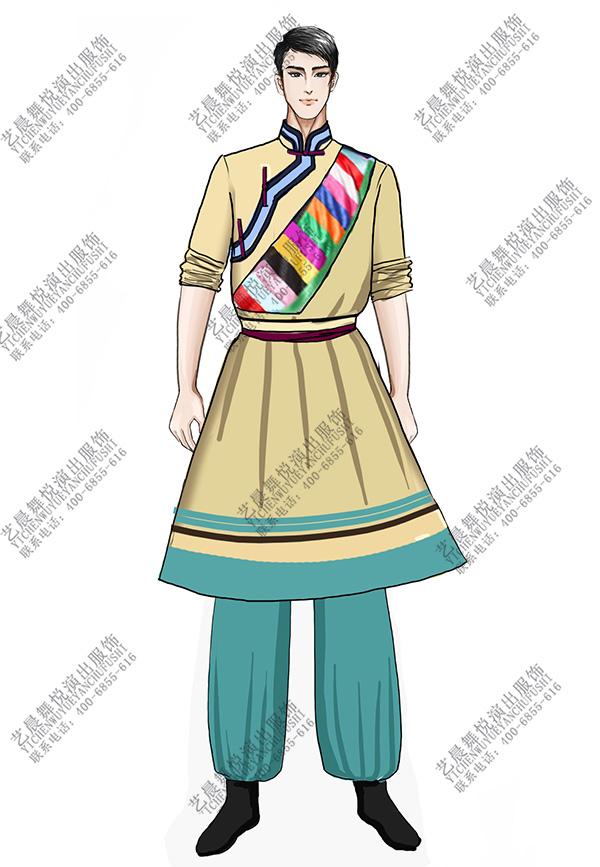少数民族服装蒙古舞服装设计蒙古比赛服装定制