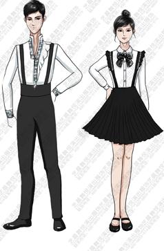 合唱演出服装校园大合唱比赛演出服装设计图稿!
