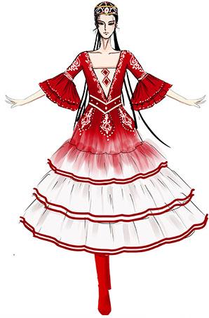 新疆舞蹈演出服装设计民族舞台表演服装设计与定制款式!