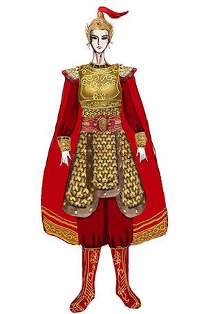 女将军舞台演出服装铠甲服装定制设计图!