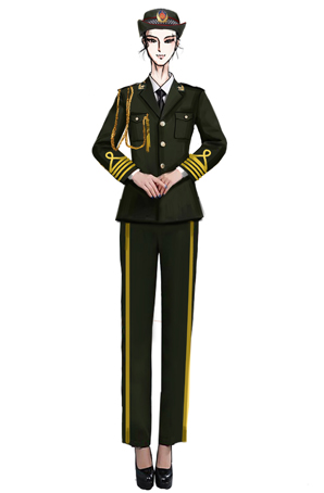 陆军军乐演出服装定制,大型军乐合唱演出服装设计图!