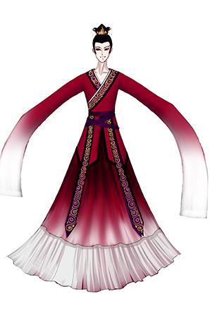 古典晚会舞台演出服装设计与定制女子鼓手表演服装定制