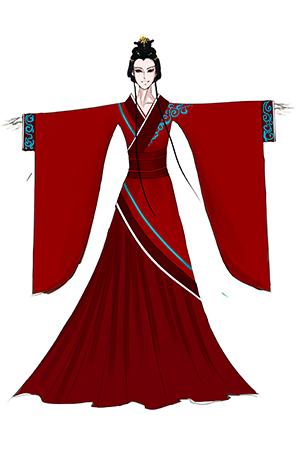 古典舞蹈演出服装设计与定制款式女子古典乐师表演服装!