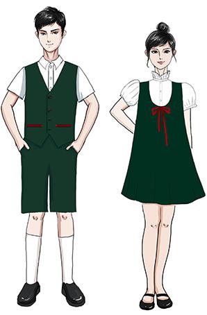 校园男女款儿童合唱服设计图稿!