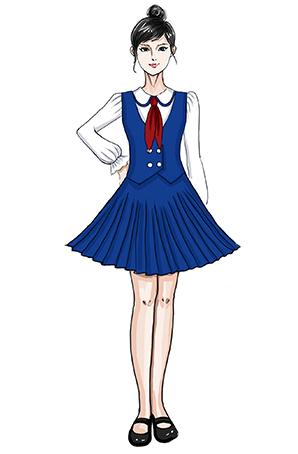 校园合唱服领带礼服合唱蓝色西装礼服定制!