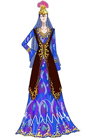 新疆舞台歌舞服装设计女民族舞台演出服定做