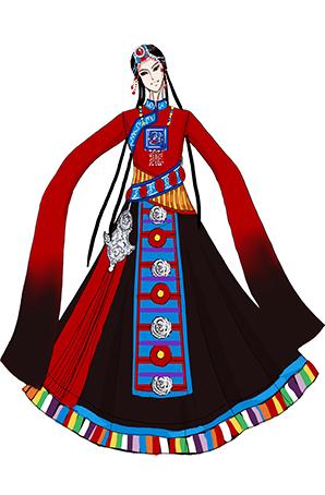 藏族舞台表演服设计定制演出服厂家