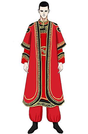 少数民族服装男士蒙古演出服设计蒙古舞服装定制