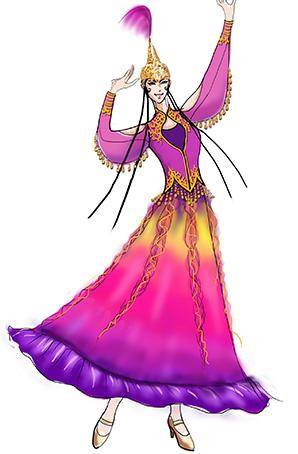 新疆舞台装56个少数民族维族舞蹈服定制