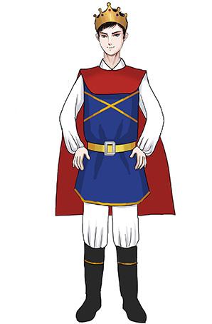 校园儿童演出服装儿童王子装扮演出服装